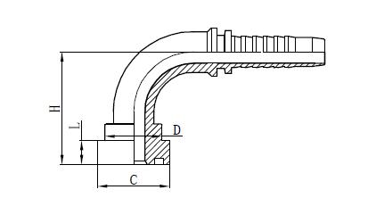 Schéma de montage du tuyau flexible 4SH