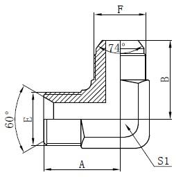 Dessin d'adaptateurs hydrauliques BSP