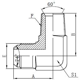 Dessin de connecteurs d'adaptateur mâle BSPT