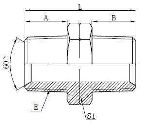 Dessin d'adaptateurs hydrauliques NPT