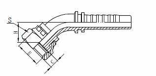 Assemblage de tuyau hydraulique R1AT