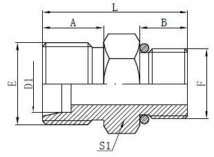 Connecteurs de tuyau SAE à joint torique