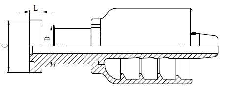 Dessin du connecteur de tube en acier inoxydable