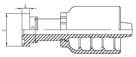 Dessin de raccords hydrauliques en acier inoxydable
