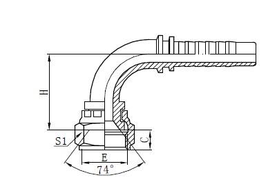 Assemblage de tuyau tressé à deux fils